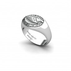 West Coast Eagles - Sterling Silver & Diamond Members Ring