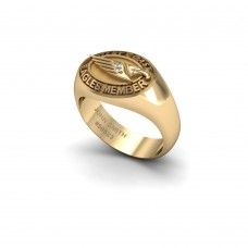 West Coast Eagles - 9K Yellow Gold & Diamond Members Ring