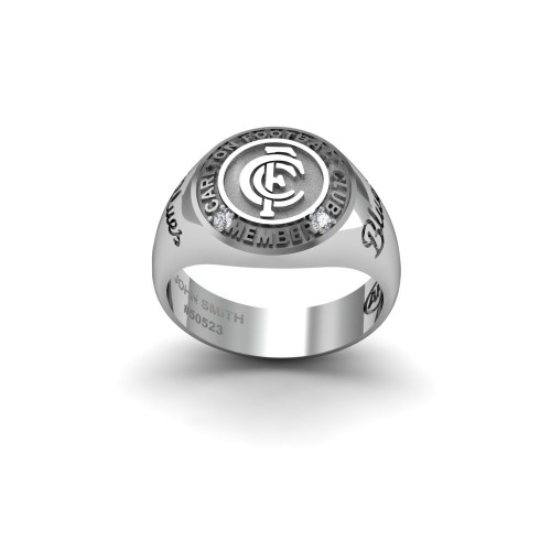 Carlton Blues - Sterling Silver & Diamond Members Ring