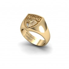 Hawthorn Hawks - 9K Yellow Gold & Diamond Members Ring