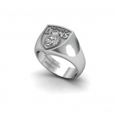 Brisbane Lions - Sterling Silver & Diamond Members Ring