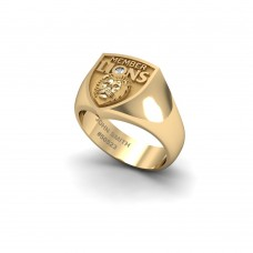 Brisbane Lions - 9K Yellow Gold & Diamond Members Ring