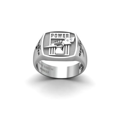 Port Adelaide - Sterling Silver & Diamond Members Ring