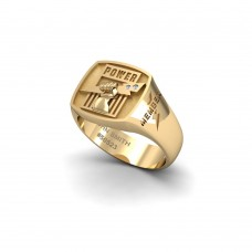 Port Adelaide - 9K Yellow Gold & Diamond Members Ring