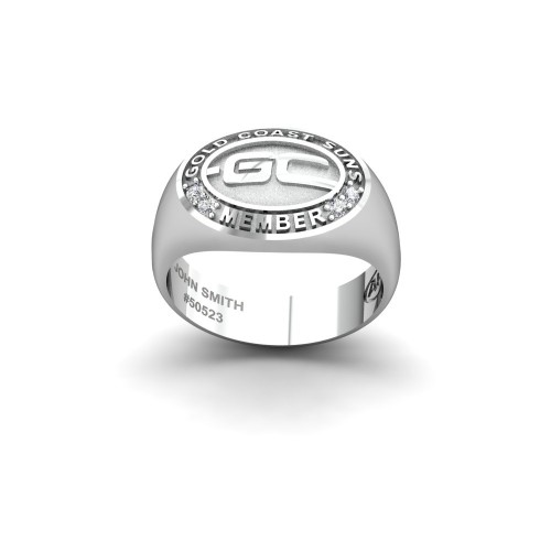 Gold Coast Suns - Sterling Silver & Diamond Members Ring