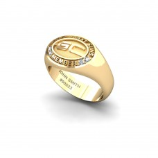 Gold Coast Suns - 9K Yellow Gold & Diamond Members Ring