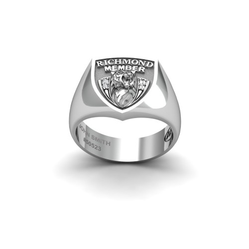 Richmond Tigers - 9K White Gold & Diamond Members Ring