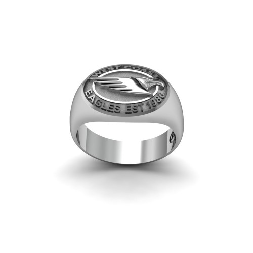 West Coast Eagles - Sterling Silver Team Ring