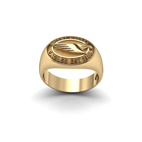 West Coast Eagles - 9K Yellow Gold Team Ring