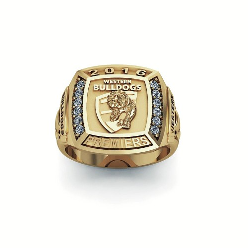 Western Bulldogs - 9K Yellow Gold & Diamond 2016 Premiers Ring