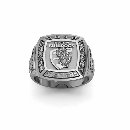 Western Bulldogs - Sterling Silver 2016 Premiers Ring
