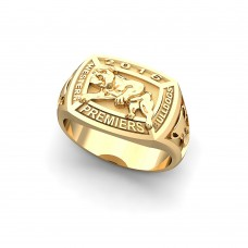 Western Bulldogs - 9K Yellow Gold 2016 Premiers Signet Ring