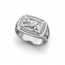 Western Bulldogs - Sterling Silver 2016 Premiers Signet Ring