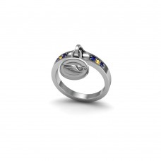 West Coast Eagles - Sterling Silver Ladies Team Ring