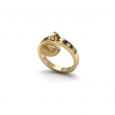 West Coast Eagles - 9K Yellow Gold Ladies Team Ring
