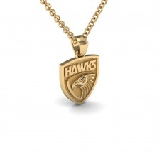 Hawthorn Hawks - 9K Yellow Gold Team Pendant