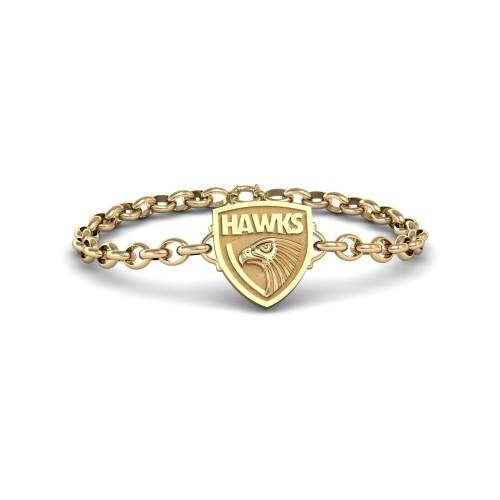 Hawthorn Hawks - 9K Yellow Gold Team Bracelet