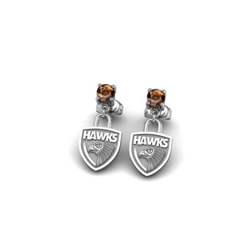 Hawthorn Hawks - Sterling Silver Team Earrings