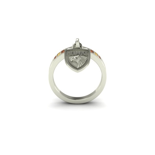 Hawthorn Hawks - Sterling Silver Ladies Team Ring