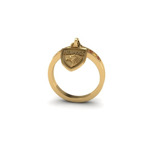 Hawthorn Hawks - 9K Yellow Gold Ladies Team Ring