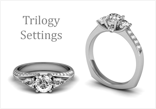 Trilogy Diamond Rings