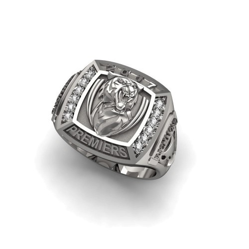 2017 Richmond Tigers 9K White Gold & Diamond AFL Premiership Ring
