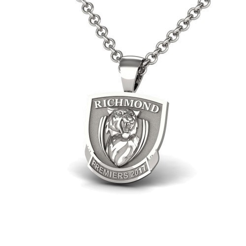 2017 Richmond Tigers 925 Sterling Silver AFL Premiership Pendant